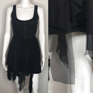 Hot Topic Black Lace Tutu Pixie Dress Small